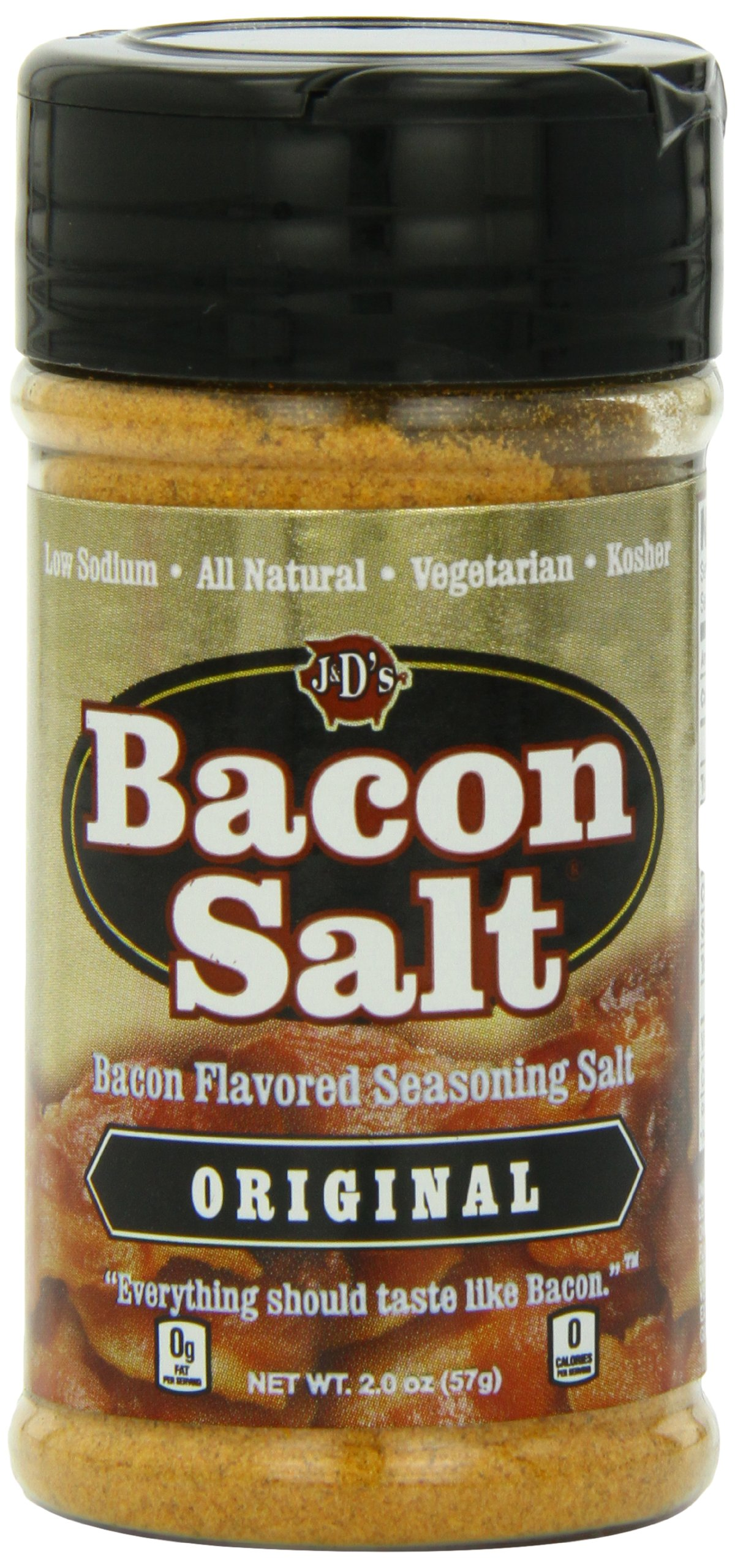 J&D's Bacon Salt, Original, 2 Ounce