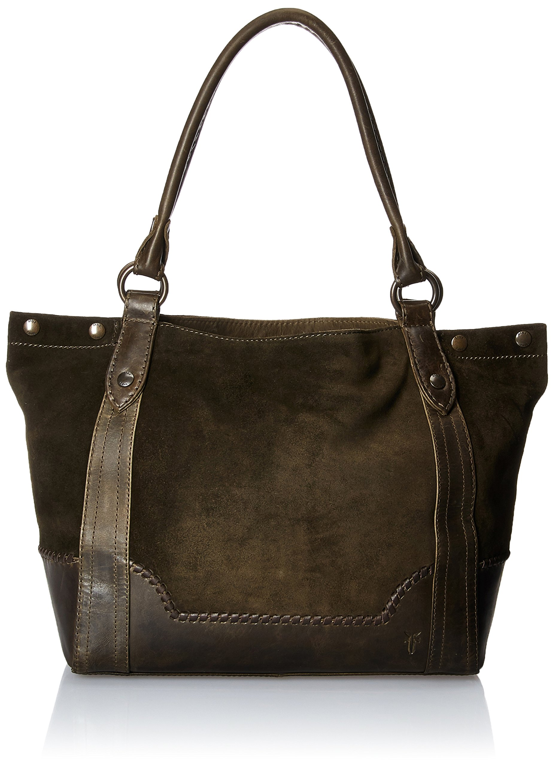Frye Melissa Whipstitch Shoulder, Fatigue Suede and Leather