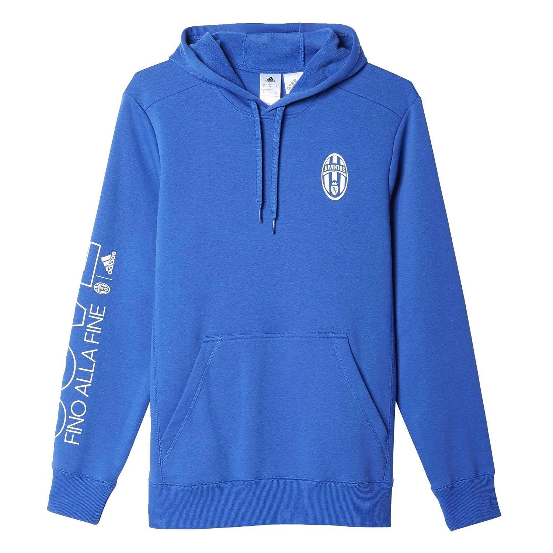 Adidas Juve CO Kapuze – Sweatshirt – Herren M Azul Blanco (Azuvit Blanco)