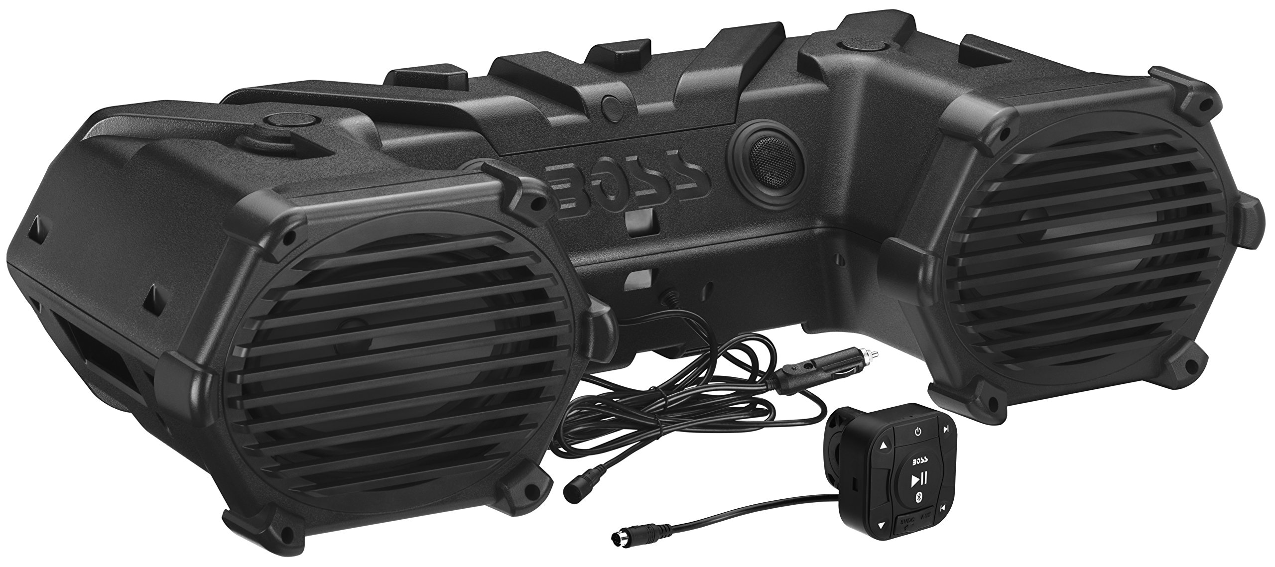 BOSS Audio ATVB69LED Bluetooth, Amplified,  ATV/UTV Sound System, Weather-Proof Marine Grade, Bluetooth Remote, 12 Volt Application Friendly by BOSS Audio