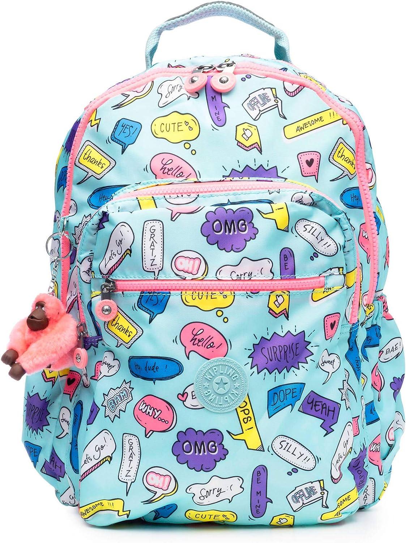 Kipling Seoul Go Laptop Backpack, Padded, Adjustable Backpack Straps, Zip Closure Laptop Backpack