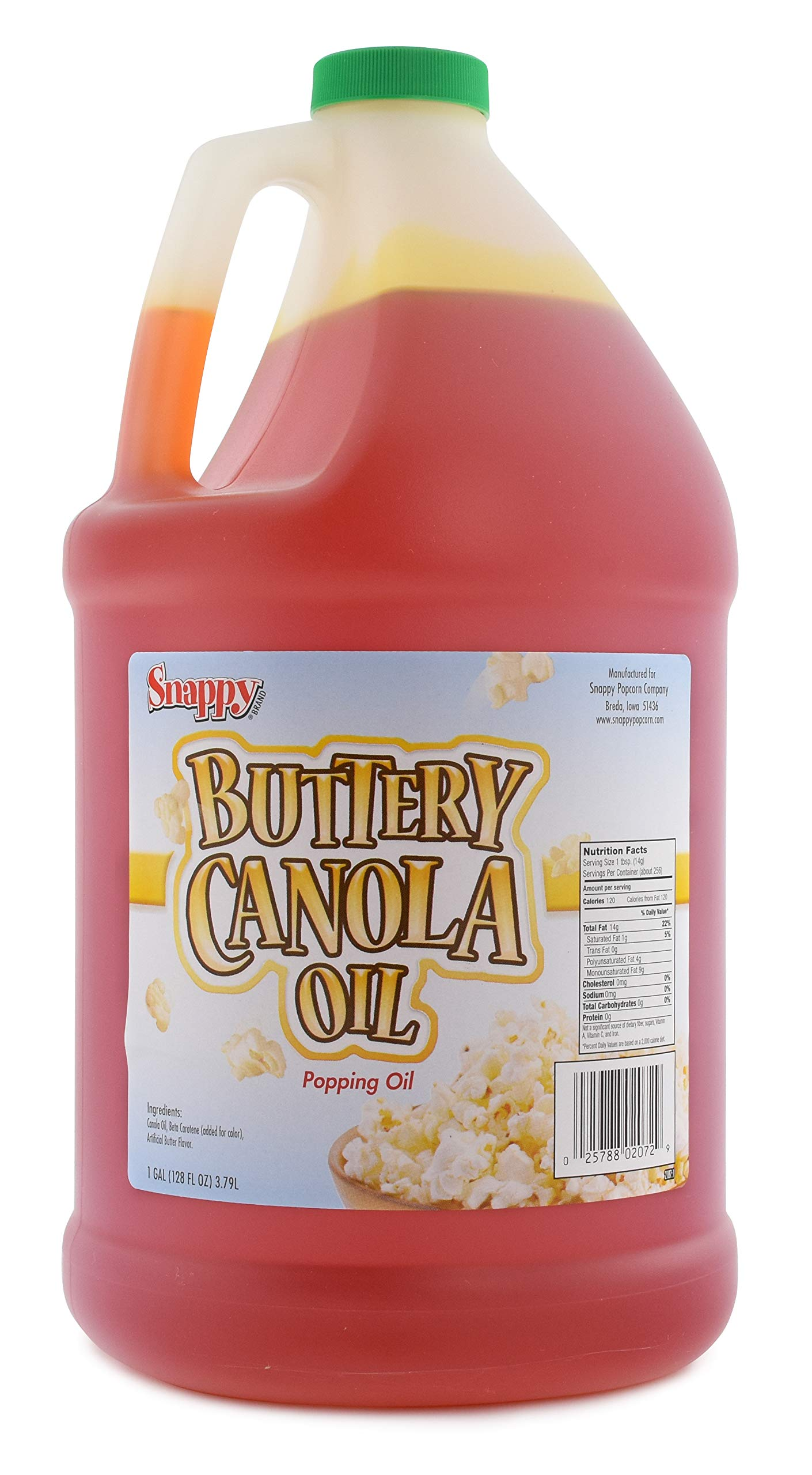 Snappy Popcorn 1 Gallon Snappy Buttery Canola Oil, 9 Pound by Snappy Popcorn