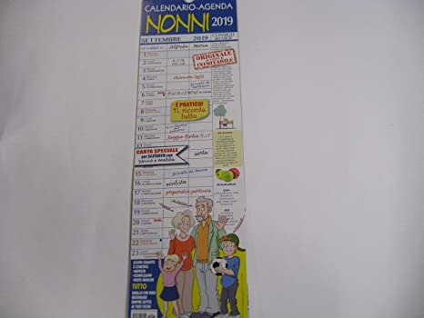 Calendario Festa Dei Nonni.Calendario Dei Nonni 2019