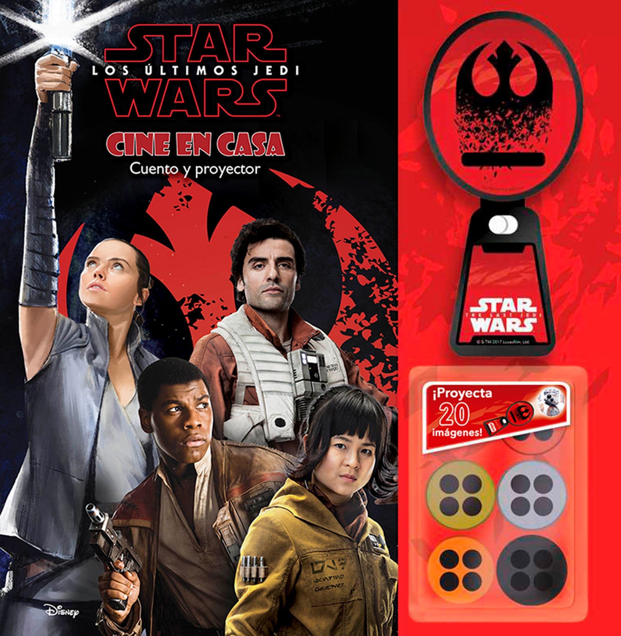 Star Wars. Los últimos Jedi. Cine en casa: Cuento y proyector ...