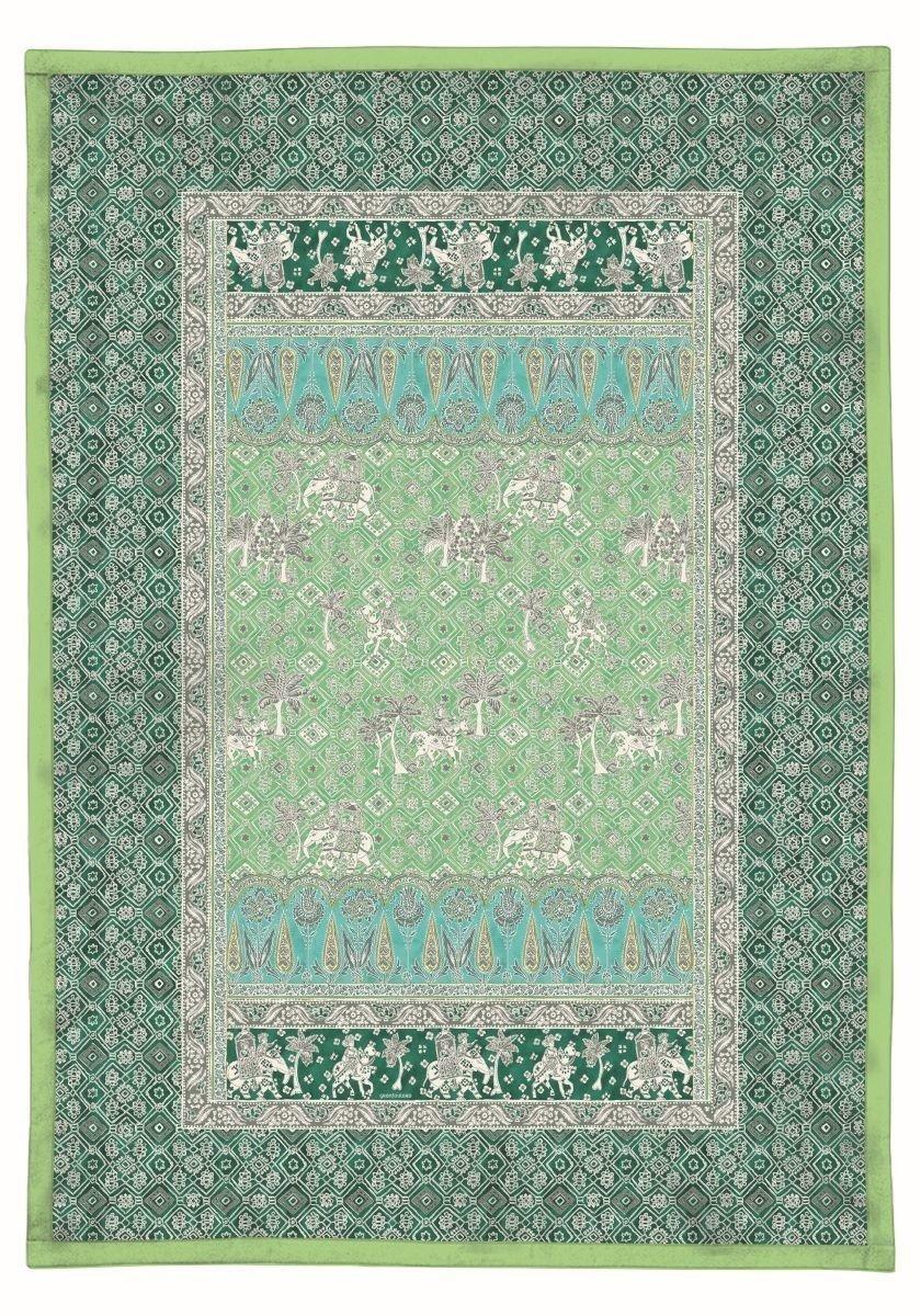 Bassetti 9235527 Tagesdecke, Jasmine V2, Baumwolle, Sondergrößen 255 x 180 x 0,5 cm, grün