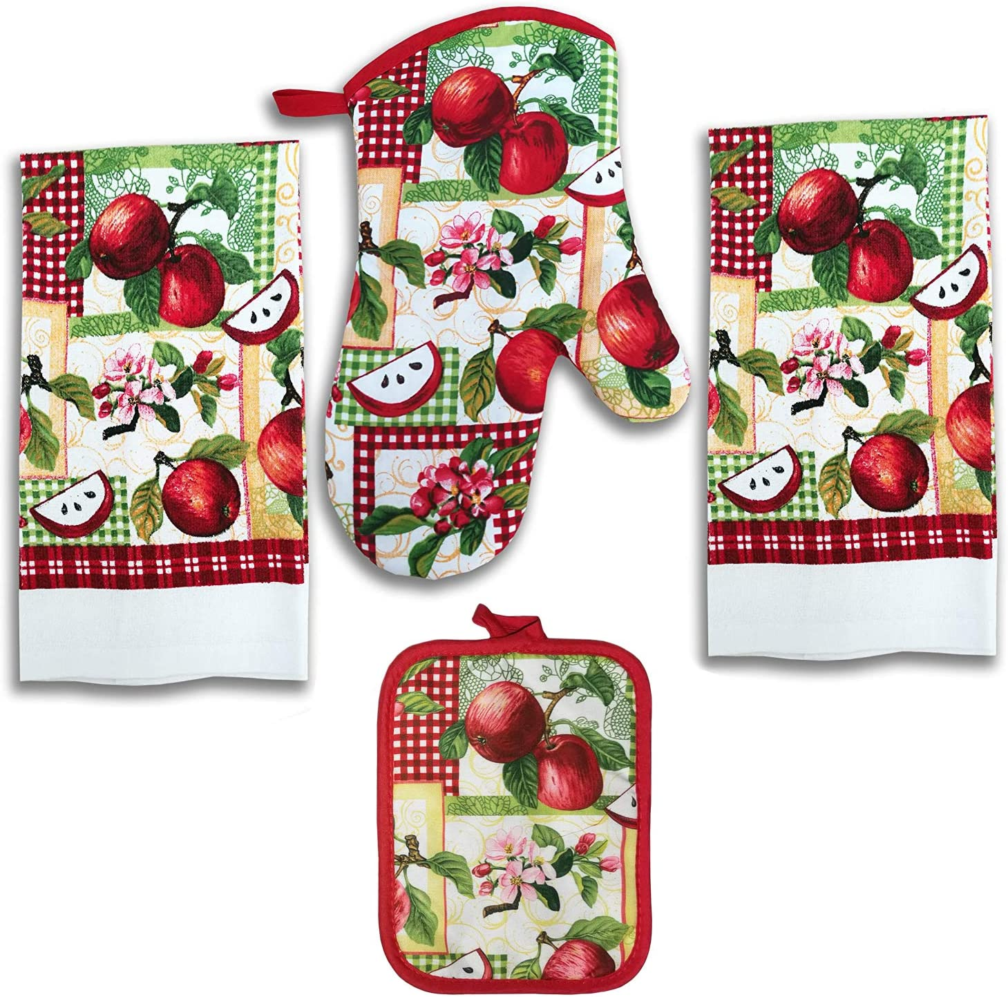 Lobyn Value Packs 4 Pack Kitchen Linens (Apple)