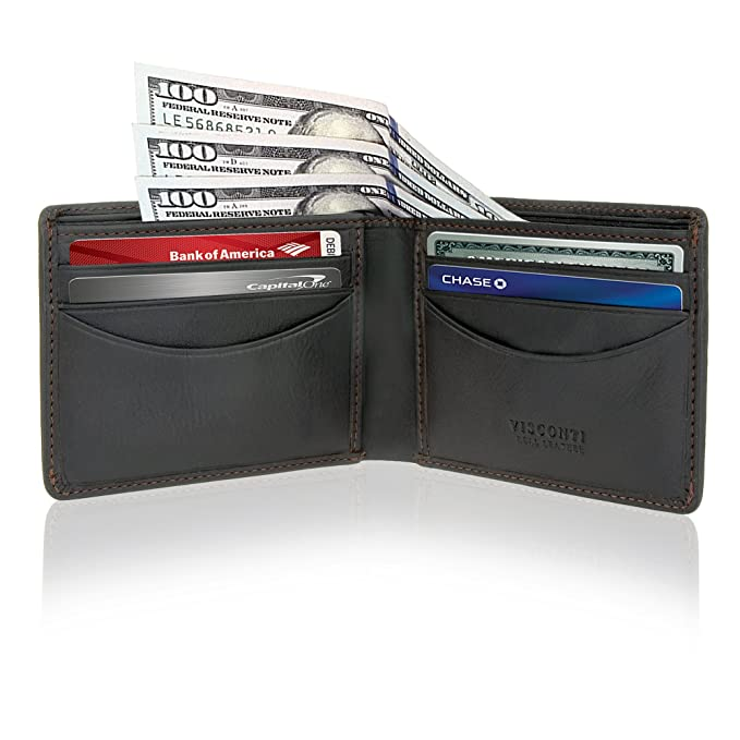 Mens Bifold Multi Card Wallet Thin Slim Light And Rfid Protection