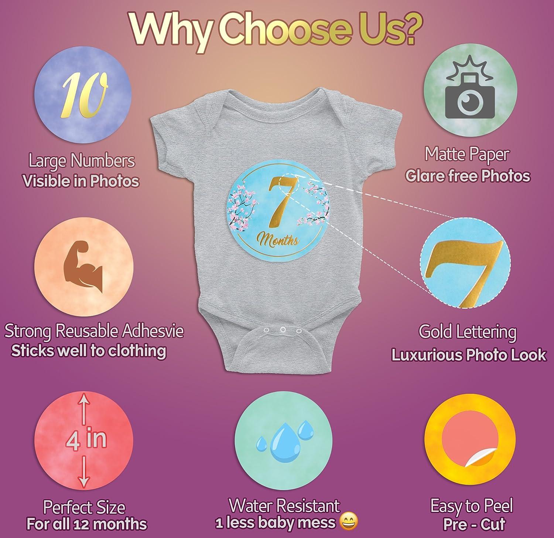 Amazon.com: 24 pegatinas para bebés con diseño de flores con ...