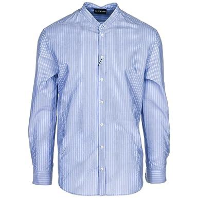 3c50c6100f04 Emporio Armani Chemise Homme blu M  Amazon.fr  Vêtements et accessoires