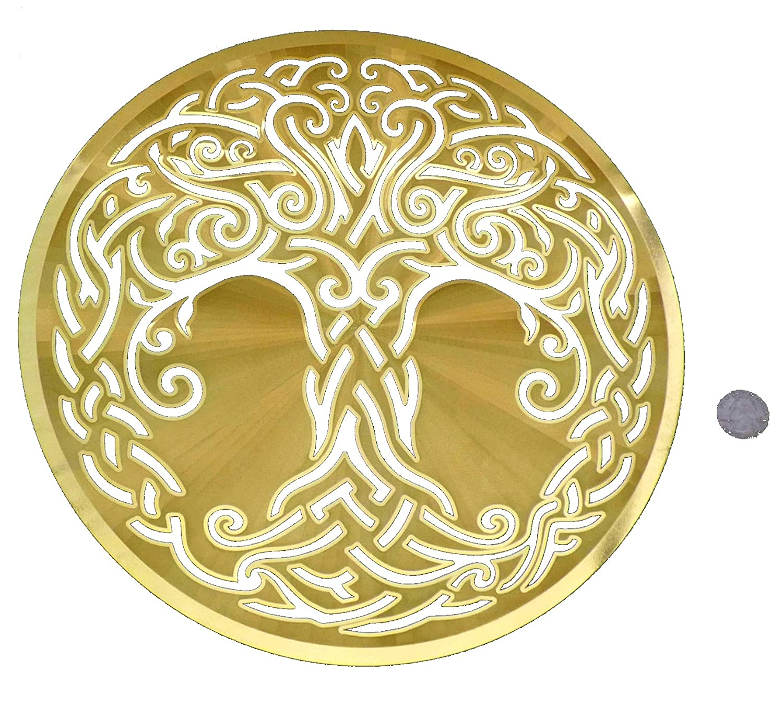 Amazon.com: HeartsforLove Large Celtic Tree Life 18K Gold Plated ...