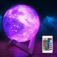 FULLOSUN Moon Lamp Galaxy Moon Night Light 3D Printing Dimmable Timer Moonlight 16 Colors with Stand & Remote & Touch…