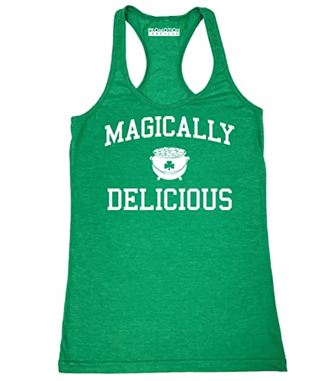 7195835aa Amazon.com: Magically Delicious Irish ST Patricks Day Women's Tank Top:  Clothing