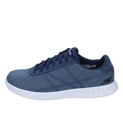 SKECHERS Chaussures de Sport Homme Toile Bleu 40 EU: Amazon