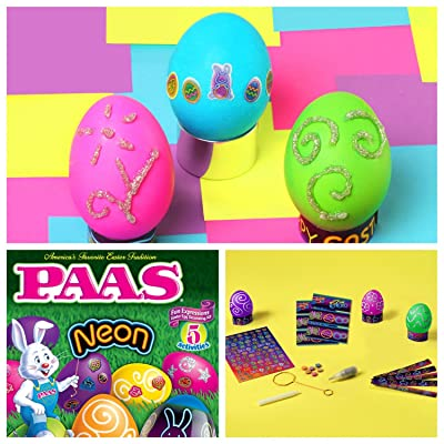 PAAS Neon Fun Expressions Easter Dye Decorating Kit: Grocery & Gourmet Food