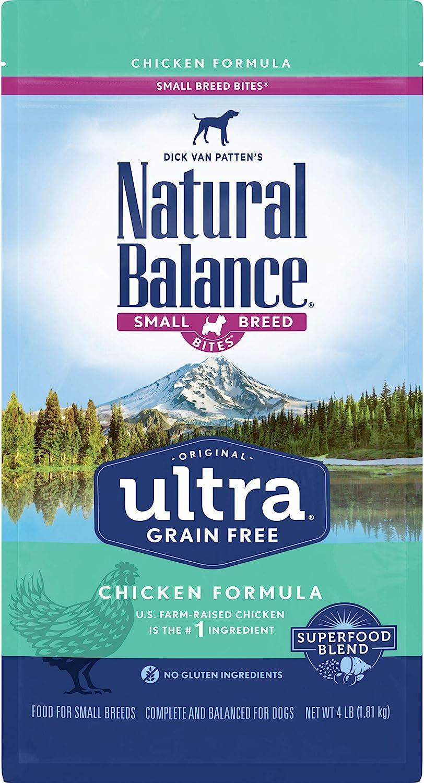 Natural Balance Original Ultra Small Breed Bites Grain Free Dry Dog Food, Chicken Formula