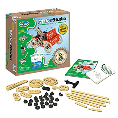 ThinkFun Maker Studio - Winches Building Kit: Toys & Games [5Bkhe0505698]