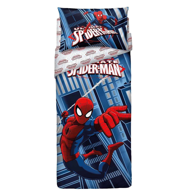 Bassetti 9286349 Spider Man Completo Copripiumone Colore Blu Singolo