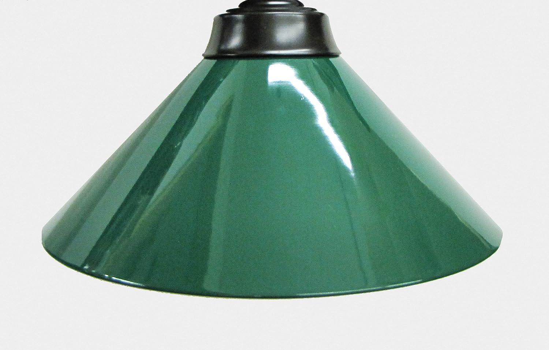 "72"" Black Metal Ball Design Pool Table Light Billiard Lamp with Green Metal Shades Green Metal Shades"