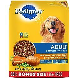 Pedigree Adult Dry Dog Food - Roasted Chicken, Rice & Vegetable