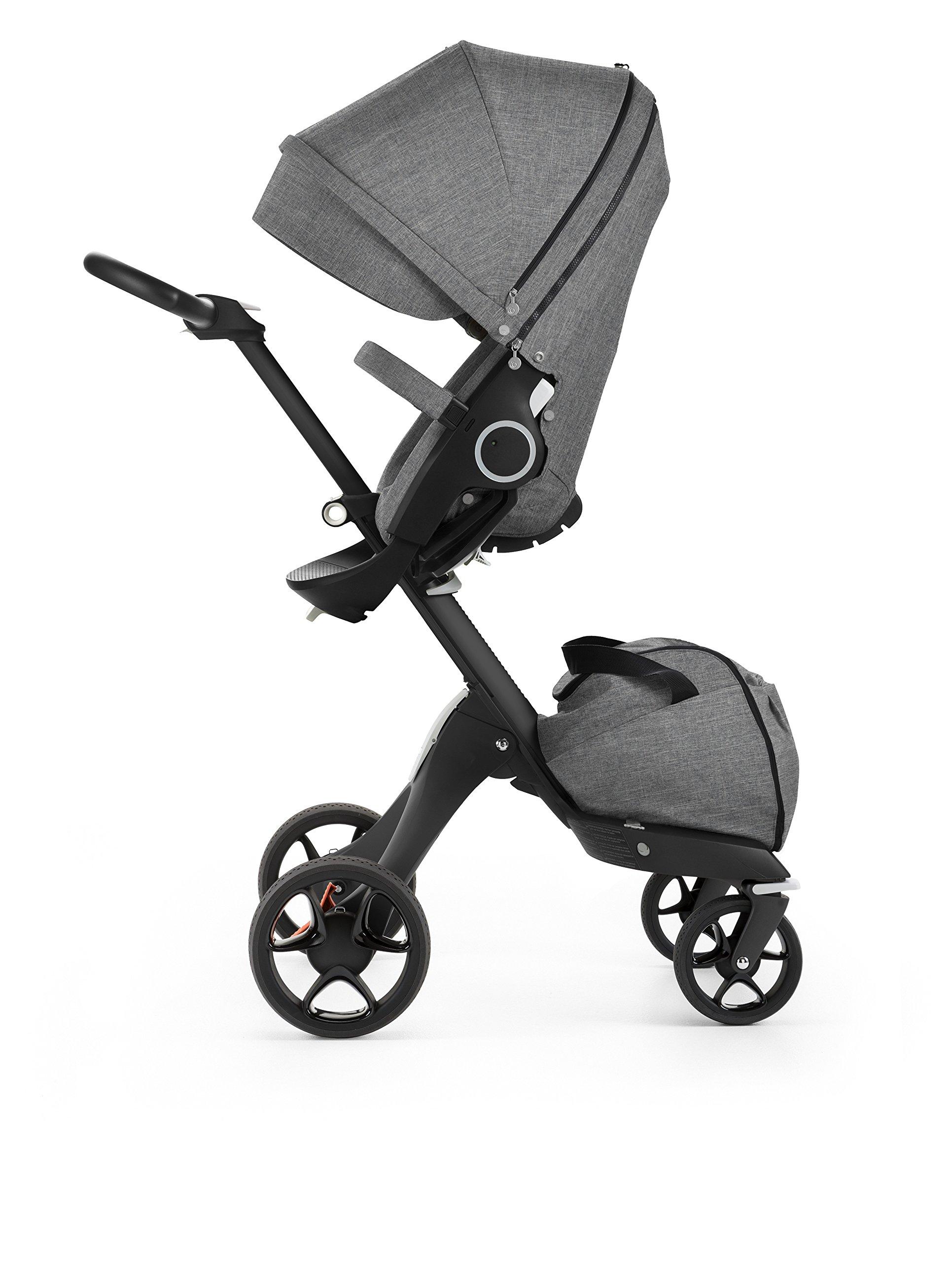 Stokke Black V5 / Chassis With Complete Stroller Seat, Parasol and Cup Holder, Black Melange by Stokke (Image #2)