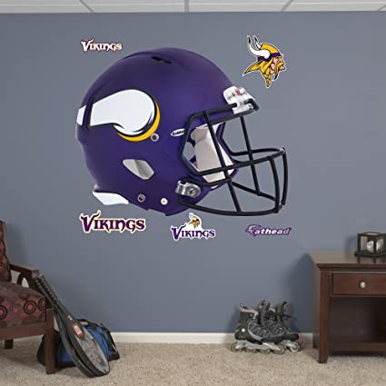 db50ef98c Fathead NFL Minnesota Vikings Minnesota Vikings  Helmet - Giant Officially  Licensed NFL Removable Wall Decal