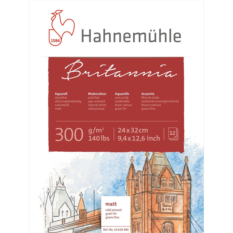 Hahnemü hle 10628980 carattere schizzo Blocks e libri acquerello Block 24 x 32 cm 300 G 12blatt Hahnemühle