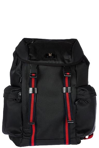 Gucci sac à dos homme en Nylon noir  Amazon.fr  Chaussures et Sacs 9f03575e552