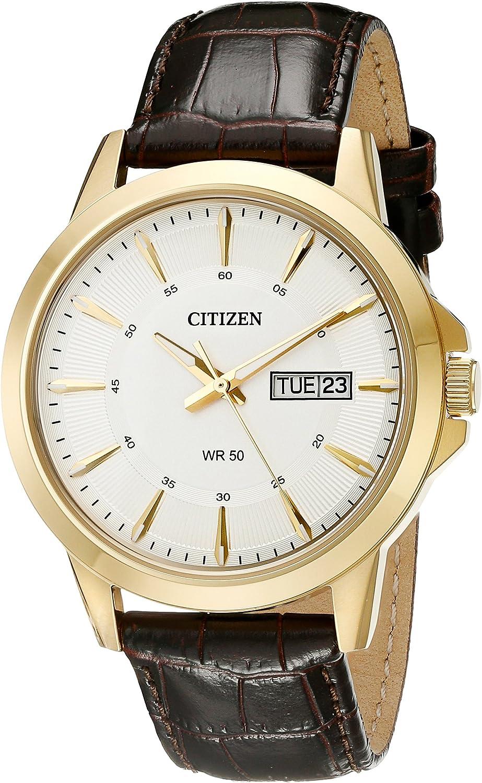 Citizen Men s Brown Leather Strap Watch