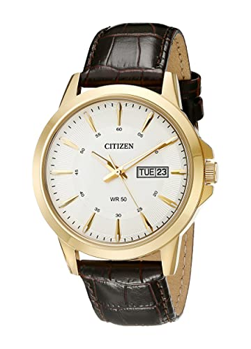 Citizen Men s Brown Leather Strap Watch