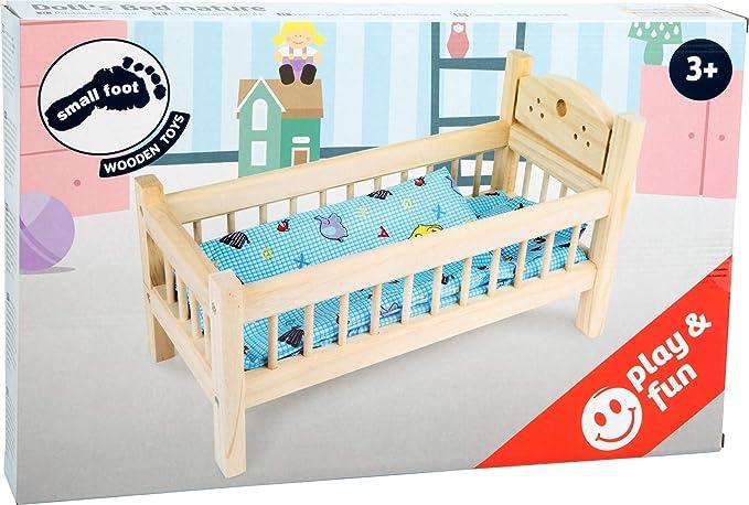 Legler 9601 Puppenbett aus Holz 26 x 44 cm mit Bettwäsche NEU #