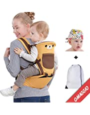 Ergonomic Baby Carrier Multifunctional 10 in 1 Soft, Adjustable, Breathable for Men and Women with Hip and Hip Support for Baby and Newborn 0-36 Months, 3-20 kg Cotton