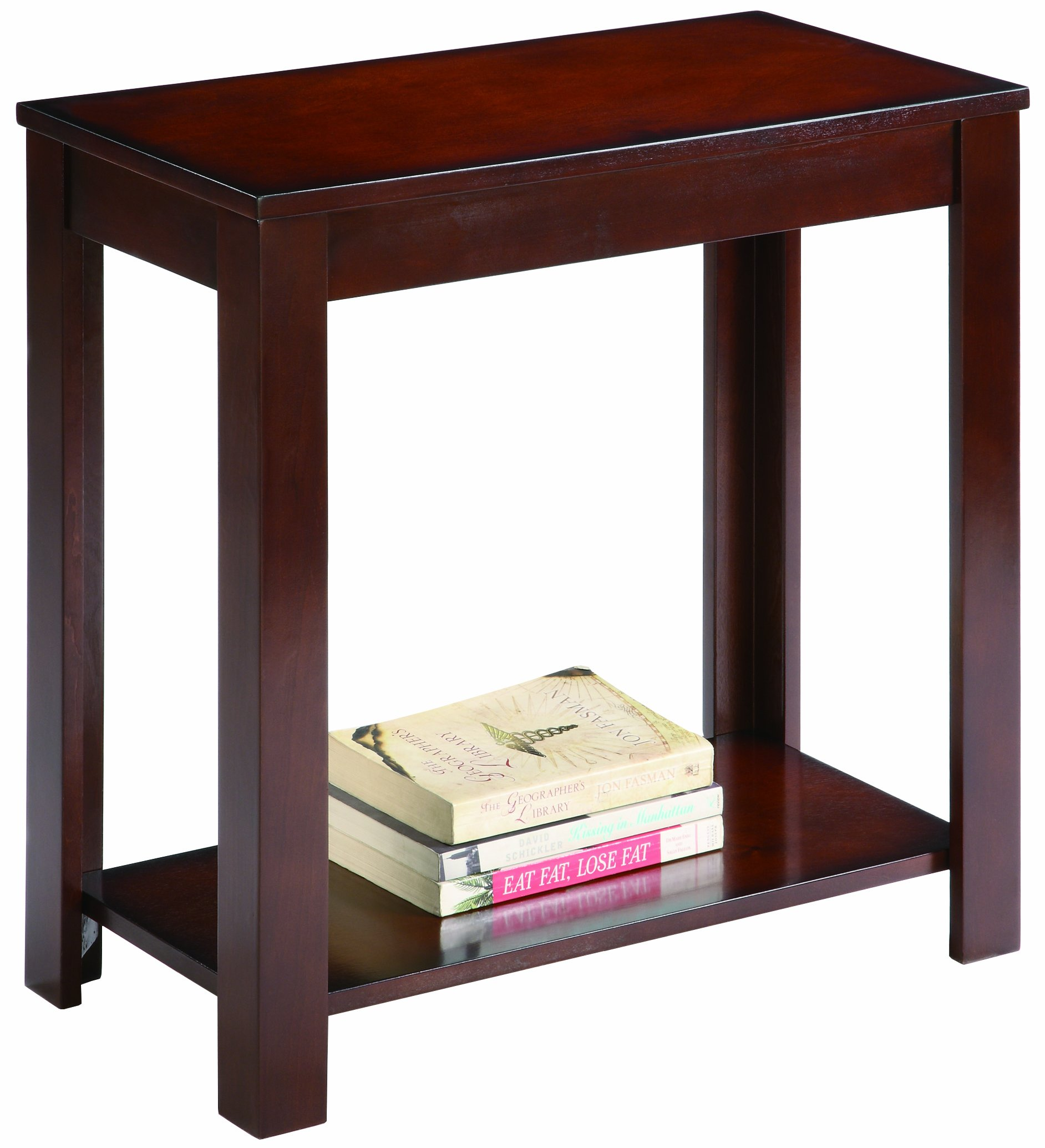 Crown Mark 7710 Pierce Chairside Table, Espresso by Crown Mark