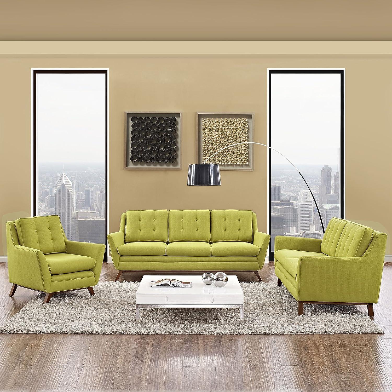 Amazoncom Modway Beguile Mid Century Modern Sofa Upholstered