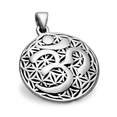 Lucky Charm Power Symbol Karma Buddhism Hindu Pendant Om Ohm 925