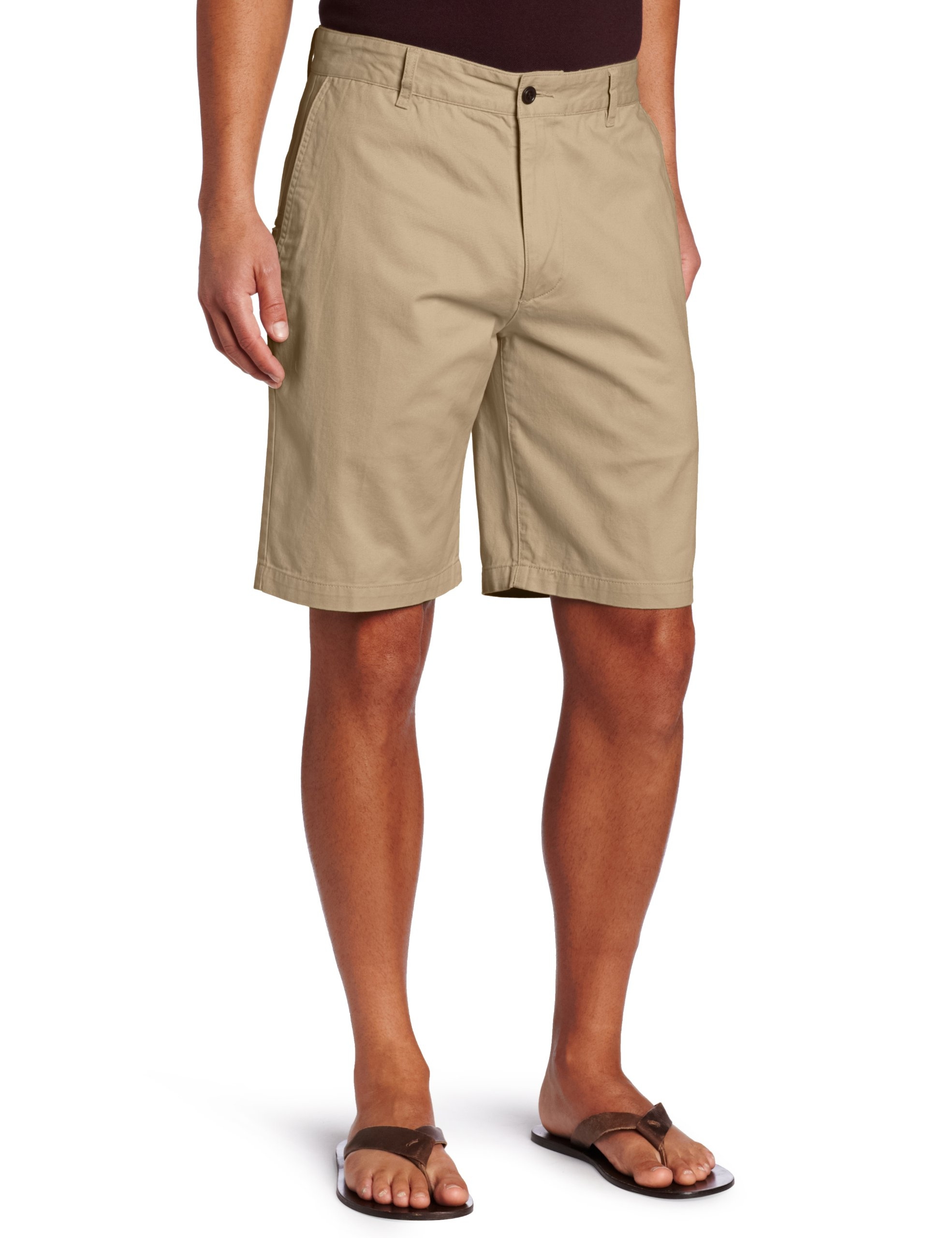Dockers Men's Classic-Fit Perfect-Short - 36W - New British Khaki (Cotton)