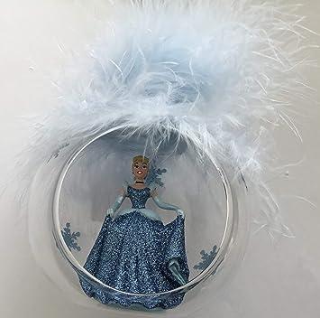 Disney Cinderella Décoration pour Sapin de Noël en Verre Motif