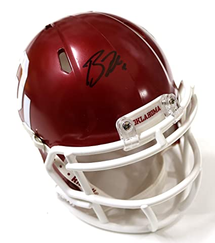 Amazon.com  Baker Mayfield Oklahoma Sooners Signed Autographed Mini ... 8f30c1470
