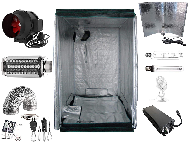 600 Watt mit AKF Generic Growbox Komplettset 600 W NDL Eco 120x120x200 cm AKF 595m/³//h