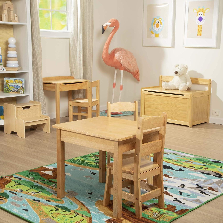 Gray Melissa /& Doug Kids Furniture Wooden Step Stool