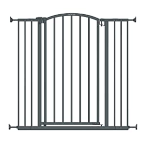 "Summer Extra Tall Decor Safety Baby Gate, Gray – 36"" Tall, Fits Openings of 28"" to 38.25"" Wide, 20"" Wide Door Opening, Baby and Pet Gate"