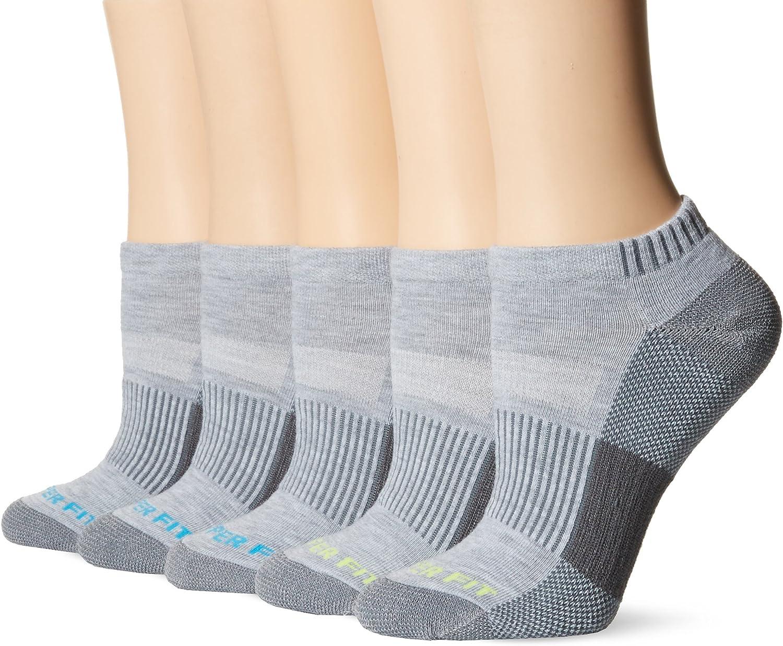 Copper Fit Women's Performance Sport Cushion Low Cut Ankle Socks (5 pair)