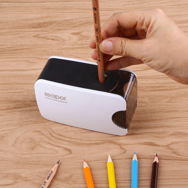 Cobee elektrischer automatischer Anspitzer batteriebetriebene /& USB Stromversorgung gro/ße Schule /& B/ürobedarf f/ür der und Erwachsene