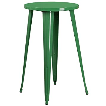 b9f05ffbb38 Image Unavailable. Image not available for. Color  Flash Furniture 24    Round Green Metal Indoor-Outdoor Bar Height Table