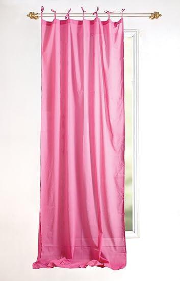 Karma Living CU100 PK Cotton Voile Curtain, Set Of 2, 44u0026quot; X 88u0026quot