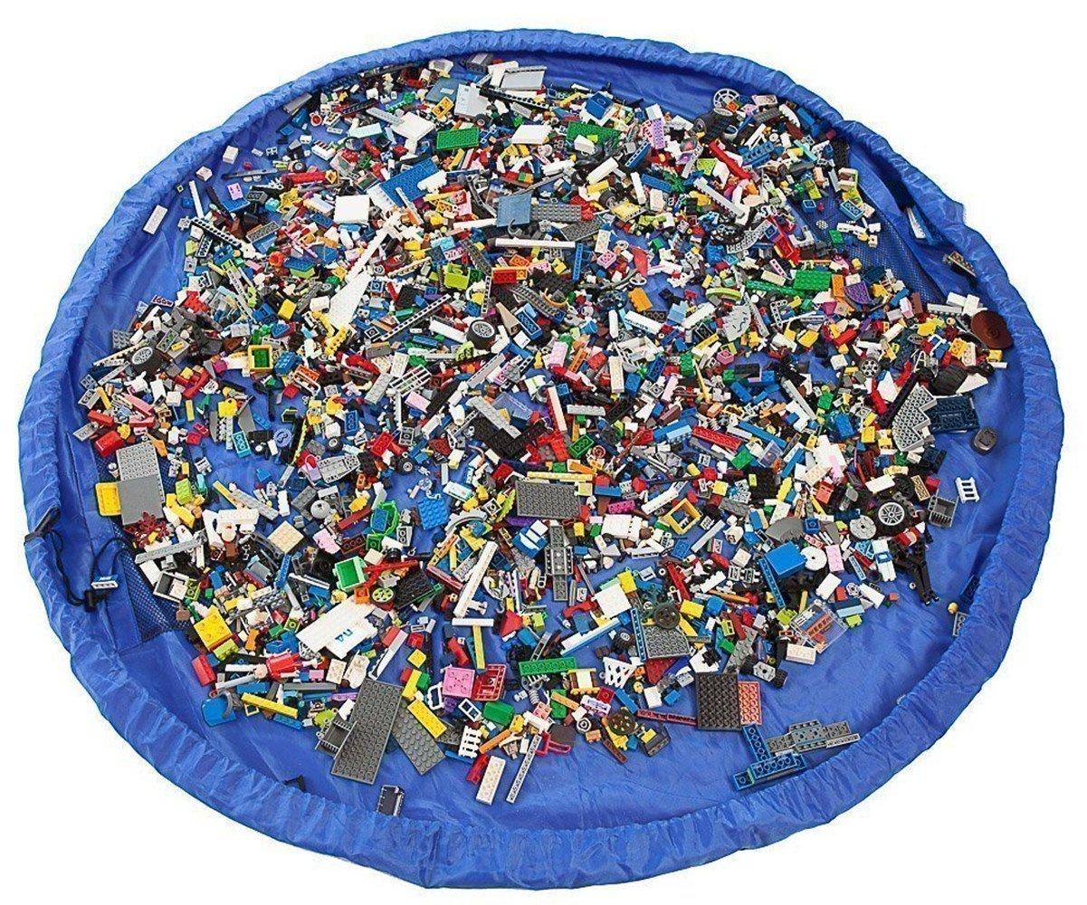 Cuby Bolso de almancenamiento para limpieza Organizador de juguetes para niñ os (Azul, 150 cm)