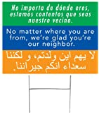 We're Glad You're Our Neighbor Yard Sign (Double-sided with H-stake)