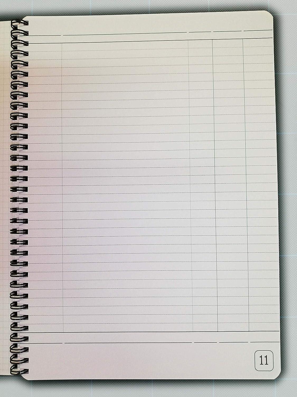 Registro generico formato A4 21x30cm con pagine numerate dall1 al 50 Blocco con spirale