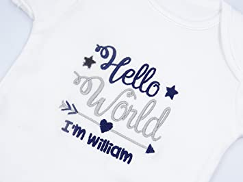 baby shower PERSONALISED TWIN babygrow//sleepsuit /& hat PREGANCY announcement