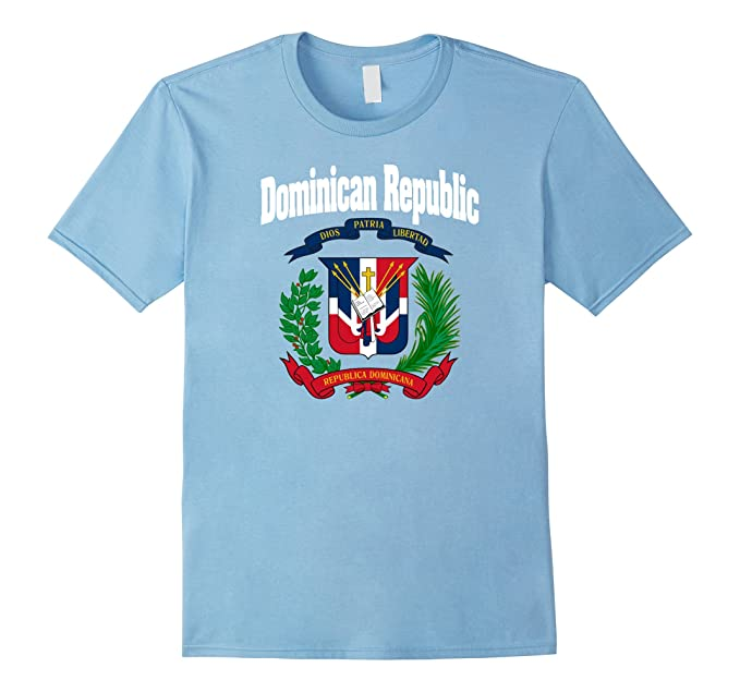 Mens Camiseta Escudo Dominicano Santo Domingo Coat Of Arms Tee 3XL Baby Blue