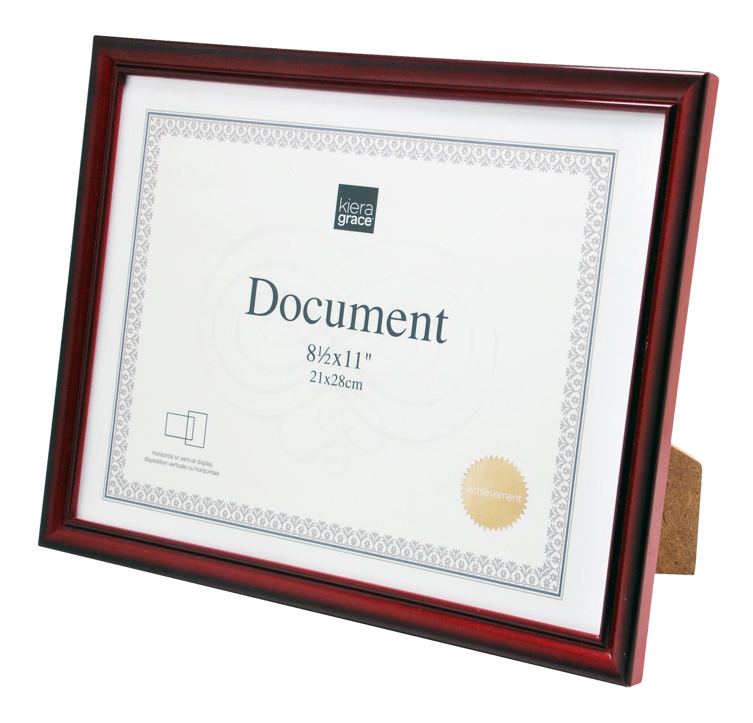 kieragrace Harper Document Frame (24 Pack, 8.5 x 11'', Dark Brown